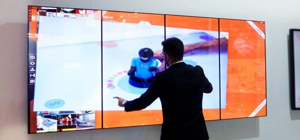 Dotykova LCD Video stena