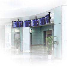 Zakrivený univerzálny stropný systém LCD