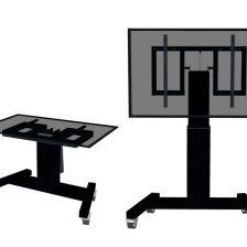 Nastaviteľným podlahový stojan pre LCD Obrazovku na kolieskách