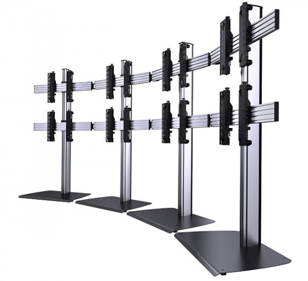 Podlahový stojan samostatne stojací pre LCD Video stenu 01