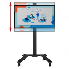 Univerzálny vozík s držiakom obrazovky s nastaviteľnou výškou