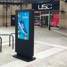 Vonkajší dotykový informačný kiosky